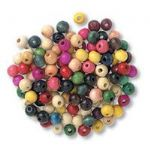 CBW08 Wood Beads 8mm Assorted: 5 Packs of 150